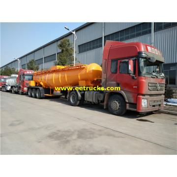Remorques en acier de transporteur d'acide sulfurique en acier 19cbm