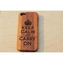 Capa de madeira natural genuína antiderrapante à prova de choque para iPhone