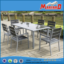 Aluminium Polywood Patio Möbel 6 Person Ess-Set