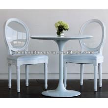 Novo design de cristal transparente cadeira traseira louis