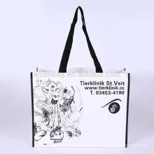 Ecoável poli durável laminado durável reusável da sacola da compra do polipropileno da compra para a promoção, o supermercado e a propaganda