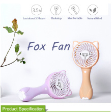 China for Rechargeable Mini Fan Mini Handheld Personal USB Fox Fan for Desk export to Indonesia Exporter