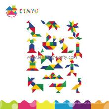 Jouet de puzzle en plastique Tangram pour l'éducation (K008)