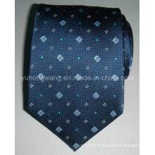 Cravate en jacquard tissée en soie pour homme