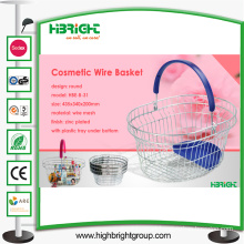Metal Shopping Basket Oval-Shaped Supermarkets Basket