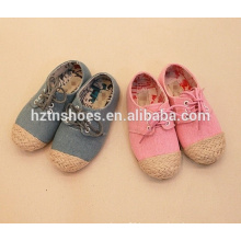 High quality kids lace up shoes casual espadrille shoes girls