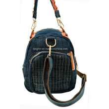 Portable Front Pocket PU Trim Canvas Lady Tasche (ZXS0011)