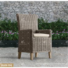 ALAND COLLECTION - 2017 New design PE wicker synthetic rattan garden furniture dining set wooden round table and 4 chairs