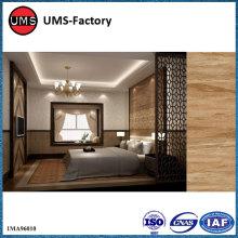 Wood grain tiles on wall