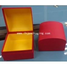 Caja de papel de regalo de embalaje de alta calidad con arco de cabina