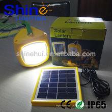 Poluição-livre de poupança de energia solar levou lanterna recarregável camping lanterna