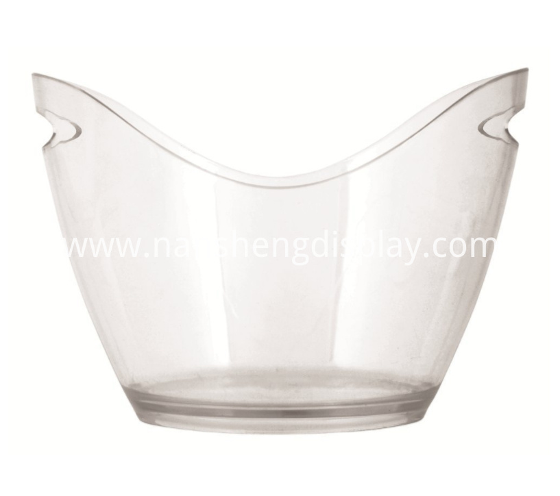 Acrylic Transparent Ice Bucket with Handles
