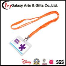 ID plástico baratos personalizados exposición insignia tarjeta titular cuello Lanyard