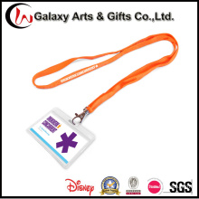 Custom Cheap Plastic ID Exhibition Badge Card Holder Neck Lanyard
