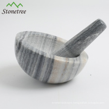 16.5*10cm stone granite slope front mortar and pestle
