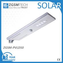 Usine de 50W Luminaires de rue solaires Integarted