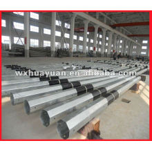 common octagonal steel electrical poles