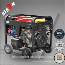 BISON Chine Taizhou 5KW CE Standard Open Frame Portable 380V Diesel Triphasé Dynamo Generator