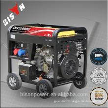 BISON China Taizhou 5000 5KW AC Single Phase Open Frame Portable Diesel Generator Machinery