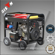 BISON China Taizhou 5KW CE Standard Open Frame Portable 380V Diesel Trifásico Dynamo Generator