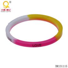 Bracelet en silicone Bracelet amour coloré