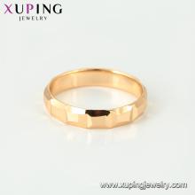 15450 xuping fábrica al por mayor de China fashion18K chapado en oro anillo simple diseños sin piedras para las mujeres