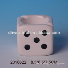 2016 new arrivals,ceramic ashtray,creative ashtray with dice shape