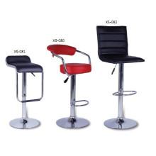 Matériau en PP de base de métal Chaise de bar en plastique
