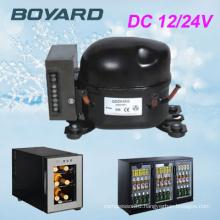 12/24V/230V Voltage dc mobile refrigerator with r134a dc 12v car air compressor bd35f
