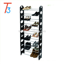 Adjustable 10 Tiers 30 Pair Shoe Rack Space Saving Shelves Tower plastic shoe organizer