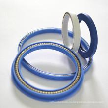 Стекло-волокно заполненные PTFE Подпитанное весной уплотнение для гидравлического