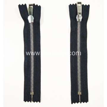 Stainless Steel Metal Luxury No Nickel Decorative Zipper