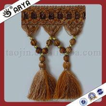 Frange de bordure à rideaux à perles pour rideaux, garniture de rideaux à franges
