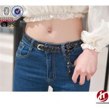 Высокое качество натуральной кожи натуральный пояс Slim Плетеный Ткань пояса для дам
