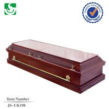 venda direta estilo Europeu do paulownia madeira adulto caixão feito em China