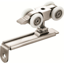 Puertas de madera Hardware de rodillos con carril de aleación de aluminio