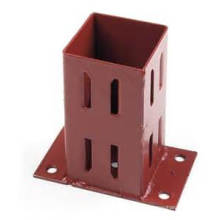 Red Zinc Plated Strong Tie Base Support
