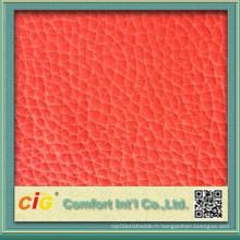 Matériau en cuir populaire de gros de la mode de haute qualité