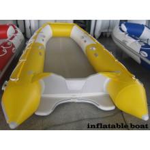 Konkurrenzfähiges Preis-Gelb-Farbruderboot-treibendes Boot-aufblasbares Boot mit CER China