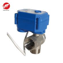 El agua automática de agua motorizada apagó la válvula de control automático eléctrico