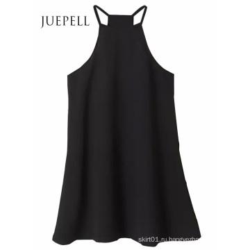 Женская Мода Без Рукавов Линии Мини-Платье