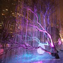 lumières à fibre optique pour arbre de noël