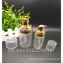 Foam Pump Spray Bottle with gold foam pump
