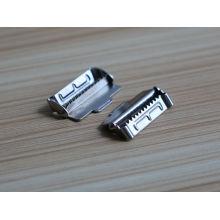 Échantillon gratuit à bas prix et haute qualité Nickle métal boucle de ceinture parties avec des dents