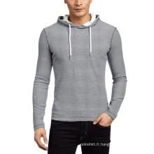 Vente en gros plaine Slim Fit Men's Sweatshirt avec capuche