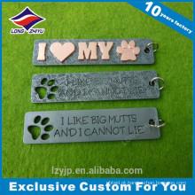Die casting beautiful dog print retangle pets dog tag