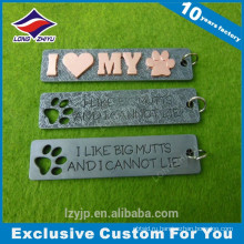 Литье красивая собака печати прямоугольник бирка собаки Домашние животные