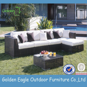 Popular stylish SGS PE garden wicker sofa