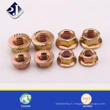 Écrou à bride hexagonale standard ASME / DIN