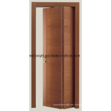 Puertas plegables interiores modernas de madera maciza